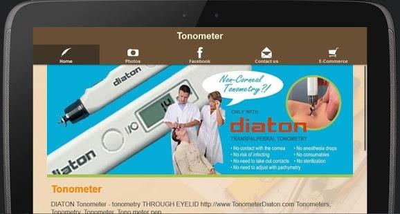 Tonometer - Glaucoma Eye Test