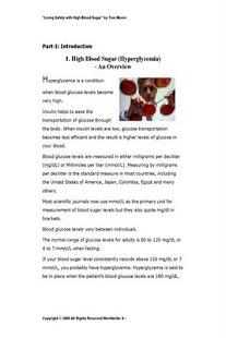 Living w High Blood Sugar Pv