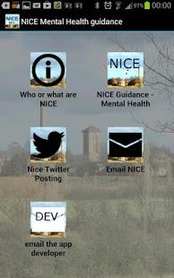 NICE Guidance in Mental Health