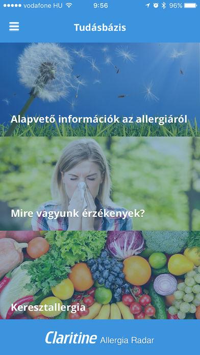 Polleninfo Claritine allergia radar for iPhone