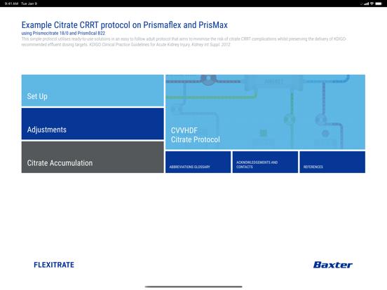 Prismaflex Citrate Protocol for iPad