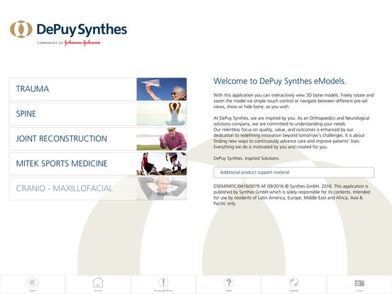 DePuy Synthes eModels for iPad