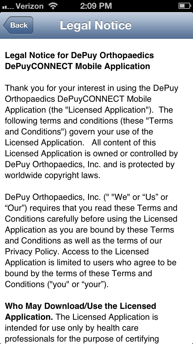 DePuy CP for iPhone